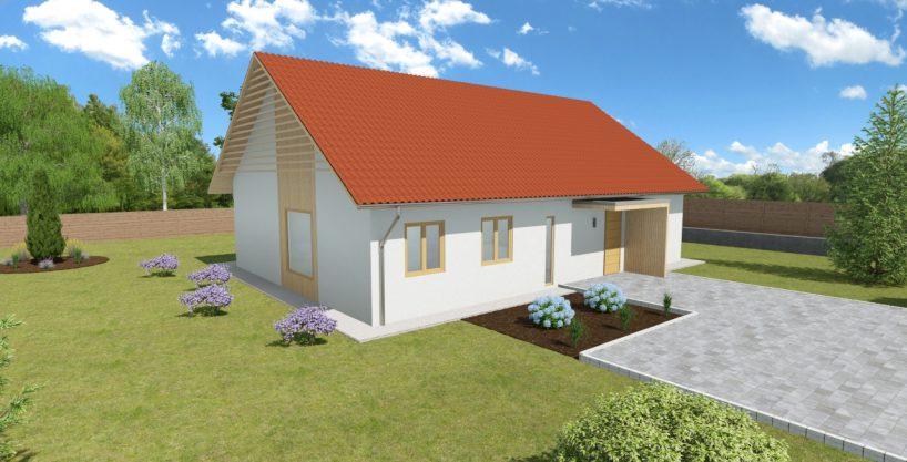 Pritlična enodružinska hiša iz lesa Diva