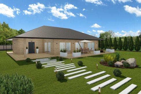 Pritlična brunarica bungalov Portia
