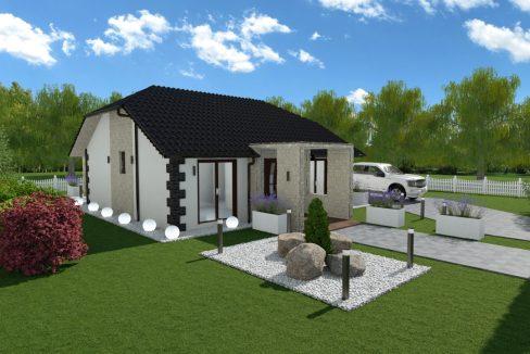 Pritlična montažna hiša Salana