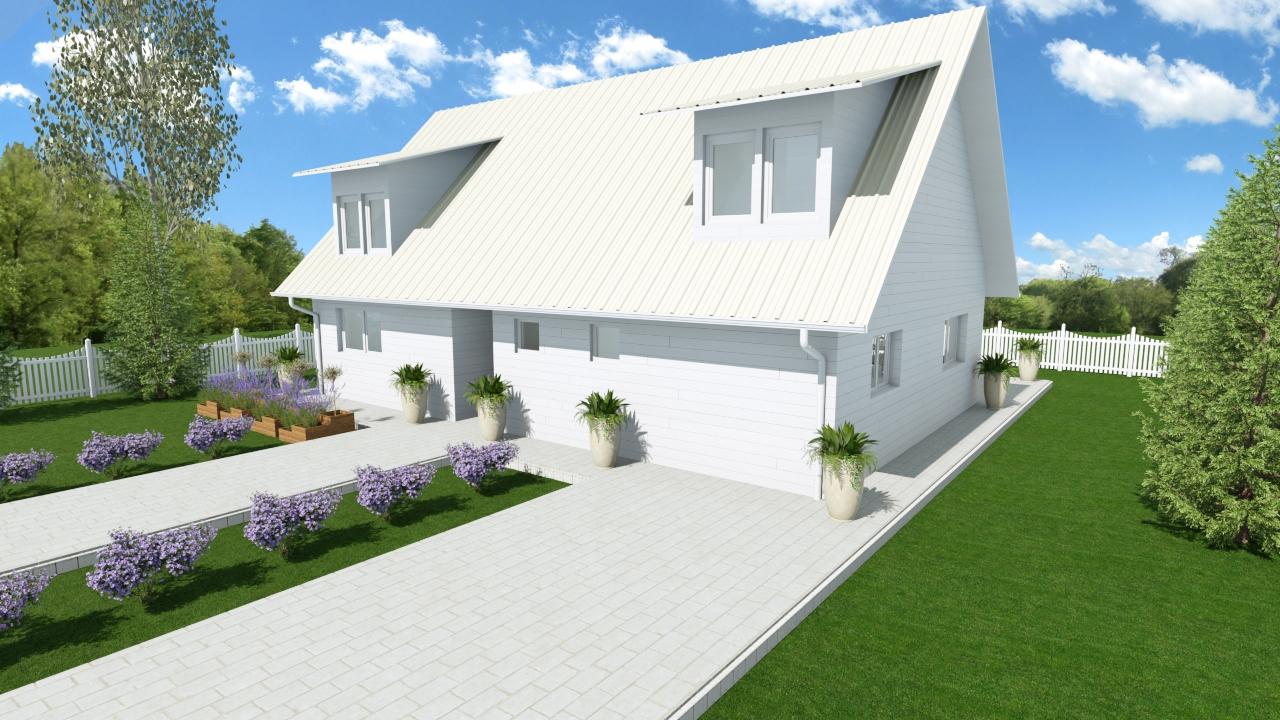 Lesena hiša Melva